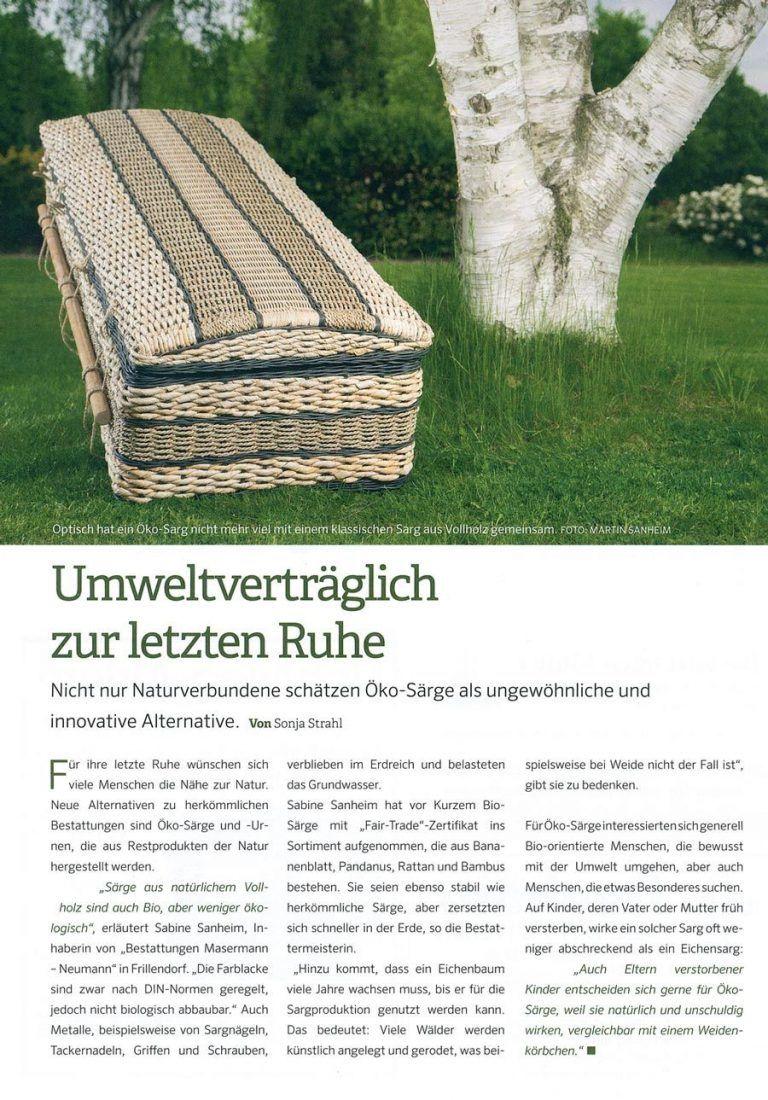 Pressebericht-Biosarg-WAZ-Abschied – Das Trauermagazin für Essen