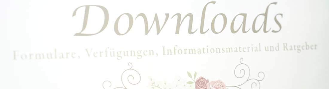 Downloadbereich zu Infos, Ratgeber, Wissenswertes und Anträgen